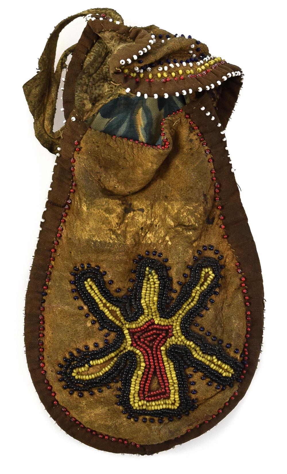 Northwest Coast Athabaskan Beaded Bag C 1890s Native