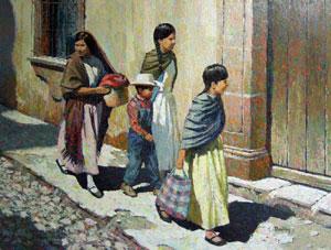 """Jack Dudley, Callejon en Fresnillo, Mexico, Oil on Panel, 18"""" x 24"""""""