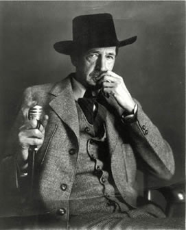 Maynard Dixon with Black Hat and Cane