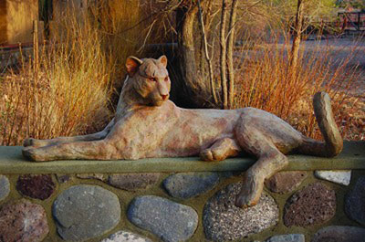 "Star Liana York, Cat Call, Monumental Bronze, 21.5"" x 67"" x 25"""