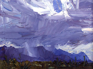 "Louisa McElwain, Santa Rita's Rain, Oil on Canvas, 18"" x 24"""