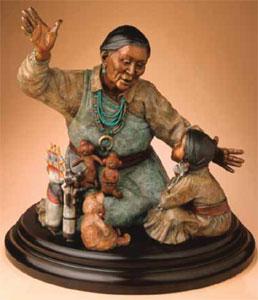 "Star Liana York, Grandma's Gifts, Bronze, 24"" x 24"" x 24"""