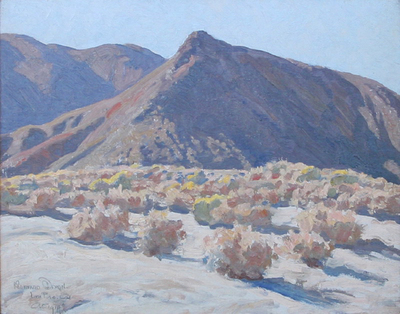 "Maynard Dixon, Lone Pine, California, 1919, Oil on Canvas Board, 15.5"" x 20"""