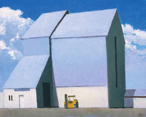 "Gary Ernest Smith, Storage Units, oil on linen, 16"" x 20"""