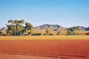"Gary Ernest Smith, Arizona Looking Towards Mexico, oil on linen, 24"" x 36"""