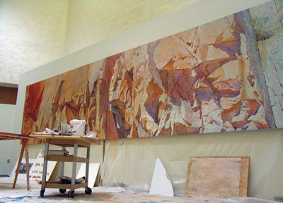 Merrill Mahaffey was commissioned this summer to 14 foot long painting for the City of Scottsdale's Public Library.