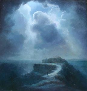 "P. A. Nisbet, Old Walpi, Oil on Canvas, 27"" x 26"""