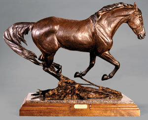 "Veryl Goodnight, Running the Chaparral, Bronze Edition of 25, 27"" x 17"" x 27"""