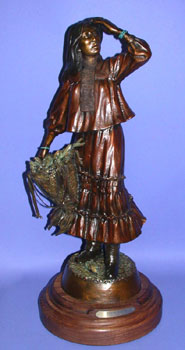"Susan Kliewer, Apache Autumn, Bronze Edition of 45, 22"" x 10"" x 7"""