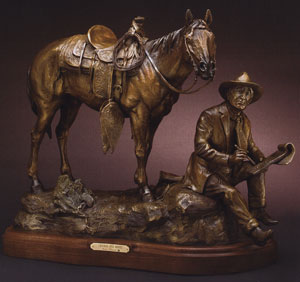 "Susan Kliewer, Charlie and Monte, Bronze Edition of 35, 18.5"" x 21.5"" x 7"""