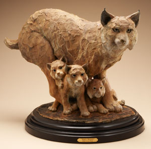 "Star Liana York, Paws a Plenty, Bronze, 20"" x 30"" x 15"""