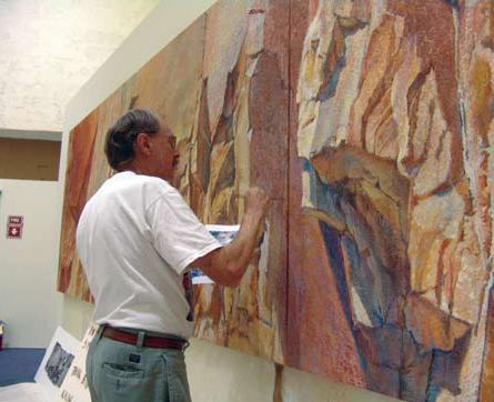 Merrill Mahaffey in his studio