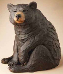 "Star Liana York, Watch Bear, Bronze, 17"" x 12"" x 13"""
