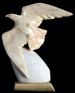 "Oreland Joe, Spirit Eagle, Alabaster, 13"" x 11"" x 5"""