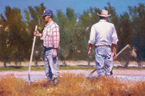 Gary Ernest Smith, Irrigation, oil on linen, 20 x 30""