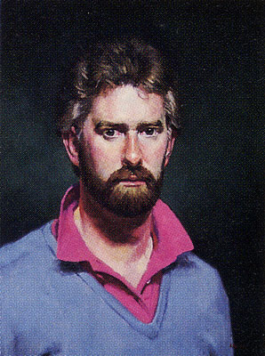 Gregory Hull, Self-portrait, 1986, oil, 24 x 18, Collection of the Artist