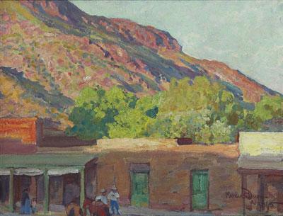 Maynard Dixon, Adobe Town, Tempe, Arizona, circa 1915