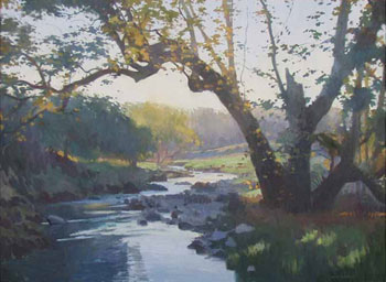 "Ray Roberts, Sycamore Creek, Oil on Canvas, 30"" x 40"""