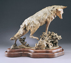 "Jan Mapes, Rabbit Brush, Bronze, 16"" x 20"""
