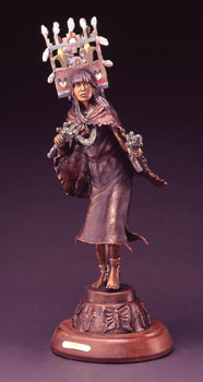 "Susan Kliewer, Hopi Butterfly Girl, Bronze Edition of 45, 28"" x 8"" x 7"""
