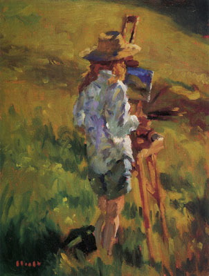 Gregory Hull, The Painter Whitney, 1996, Oil, 12 x 9, Private Collection