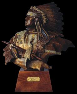 """Oreland Joe, Blackfeet Ritual, Bronze, 16.5"""" x 14"""" x 6"""""""