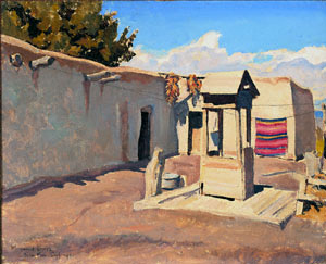 Maynard Dixon, Old Patio, New Mexico September 1931