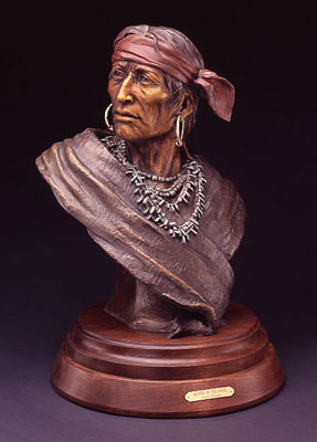"Susan Kliewer, Keeper of the Eagle, Bronze Edition of 45, 24"" x 14"" x 12"""