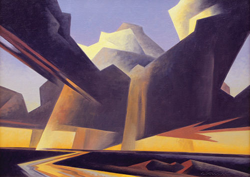 "Ed Mell (b.1942), Separating Storm, 2011, oil on linen, 18""x24"""