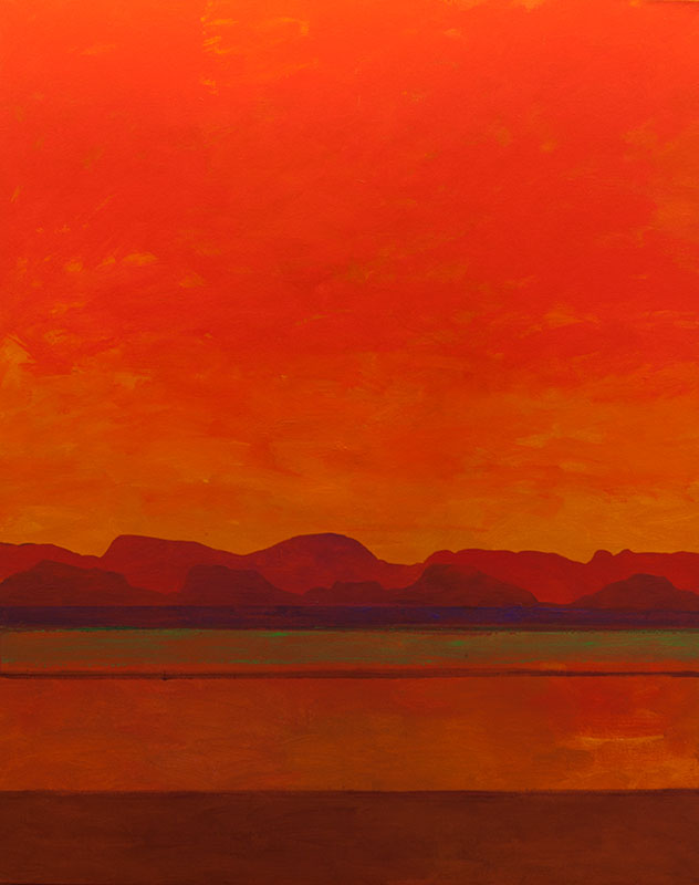 "Mark Bowles, Indian Summer, acrylic on canvas, 50"" x 40"""