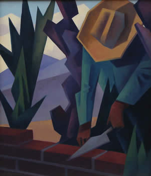 "Ed Mell, Brick Layer, Oil on Linen, 26"" x 24"""