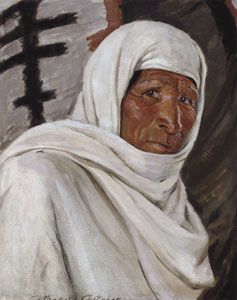 "Catharine Carter Critcher, Indian Mystic, Oil on Canvas, 22"" x 18""  Courtesy Sotheby's, New York, NY"