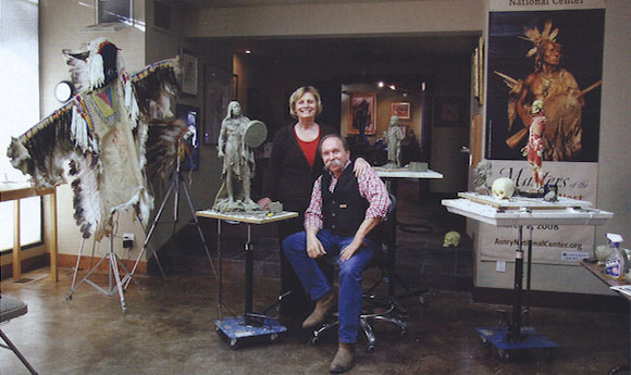 John and Sue Coleman in their studio in Prescott, Arizona