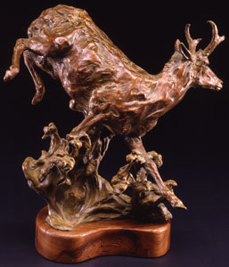 "Jan Mapes, Corre Pradera, Bronze Edition of 15, 15"" x 14"" x 8"""