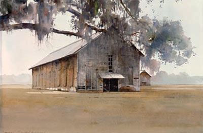 "Dean Mitchell, Southern Tobacco Farm, 20""x30"""
