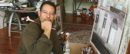 Artist Dean Mitchell in his Florida studio.