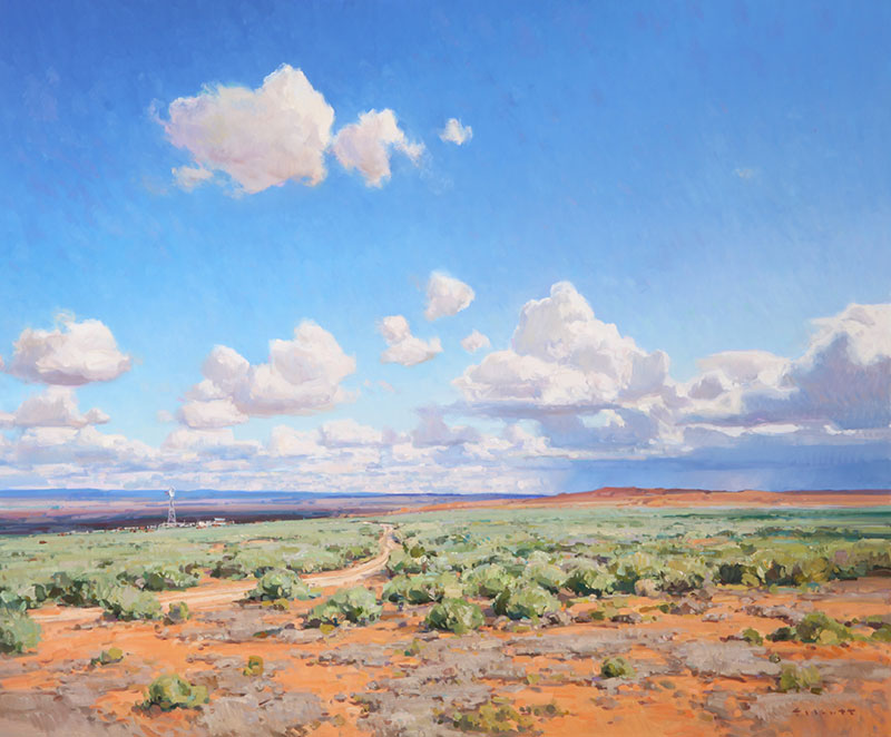 "Josh Elliott, Desert Winds, oil, 30""x36"""