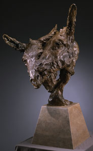 "Jan Mapes, Dos Amigos, Bronze Edition of 8, 26"" x 36"" x 27""  Photograph by Mel Schockner"