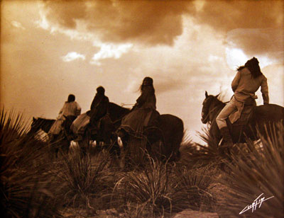 "Edward S. Curtis (1868-1952) Before the Storm - Apache, Orotone, 8"" x 10"""