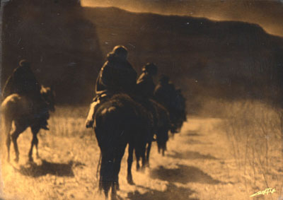 "Edward S. Curtis (1868-1952) Vanishing Race, Orotone, 8"" x 10"""