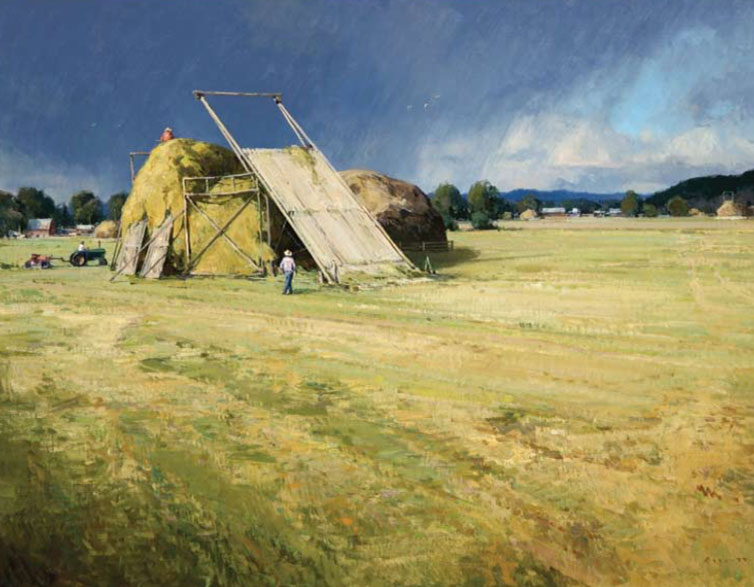 "Josh Elliott, Hay Season, oil, 30"" x 40"", 2011"