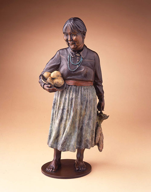 "Star Liana York, Feast Day, Bronze, 15"" x 7"" x 3"""