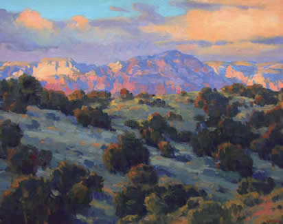 "Gregory Hull, Fields of Home, Sedona, Oil on Canvas, 24 "" x 30"""