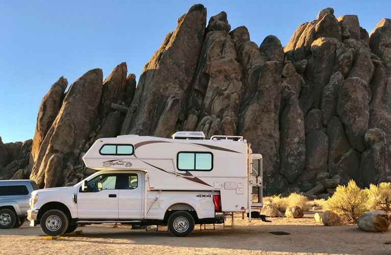 Bigfoot-Camper-in-Alabama-Hills-California