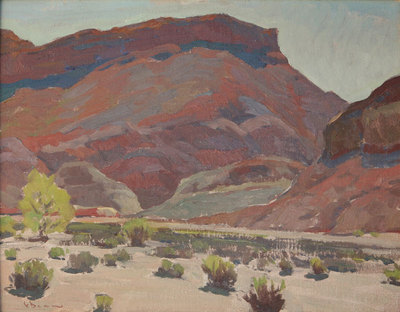 "Glenn Dean, Red Mesa, Paria Canyon, UT, Oil on Canvas Panel, 16"" x 20"""