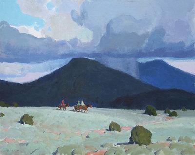 "Glenn Dean, Storm Riders, Taos, Acrylic on Canvas, 24"" x 30"""