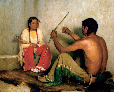 "J. H. Sharp, Broken Bow, Oil, 45"" x 60"" Courtesy Buffalo Bill Historical Center"