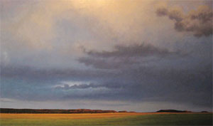 "Jeff Aeling, Twilight, White Bluffs, New Mexico, Oil on Board, 48"" x 72"""