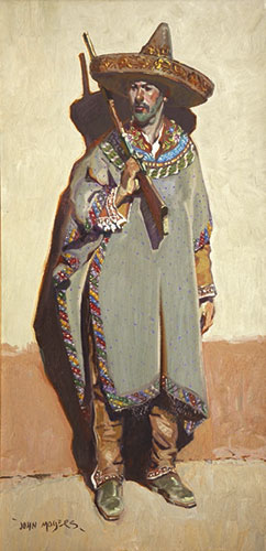 John Moyers, The Maximilian Saltillo Serape, oil on canvas, 40 x 20""