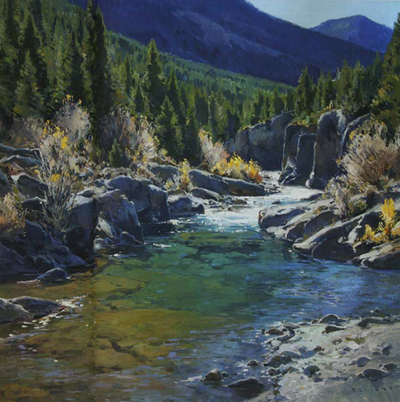 """Josh Elliott, Autumn Afternoon, Oil, 30"""" x 36"""""""